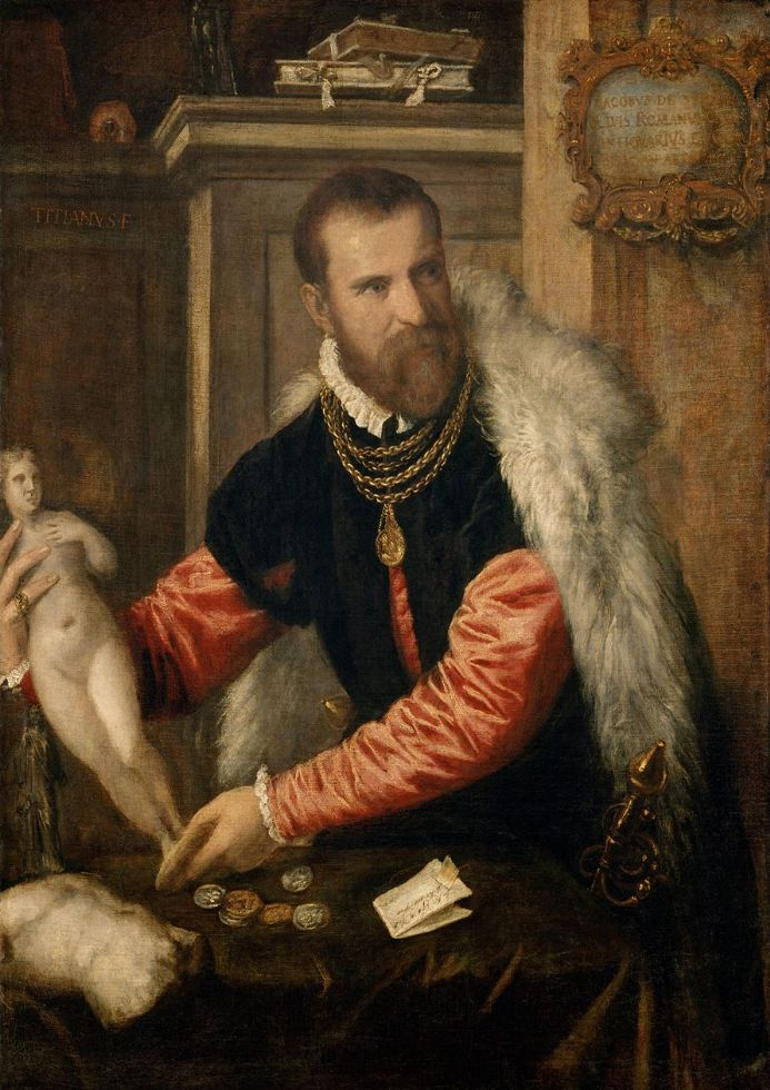 Titian (Tiziano Vecellio): Jacopo Strada, Art Expert and Buyer of Objet D'Art.  (001957)